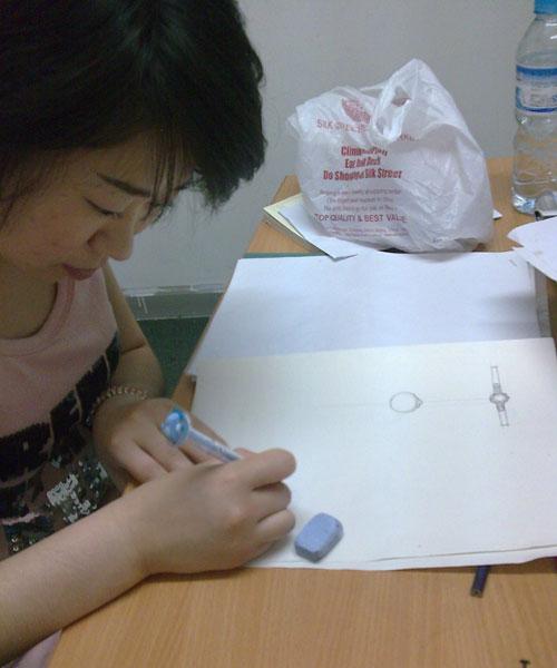 戒指手绘设计图三视图