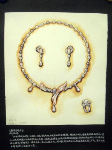 珠宝首饰手绘技法,珠宝首饰手绘课程,手绘珠宝首饰设计草图