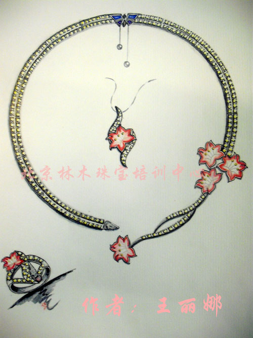 设计图分享 珠宝首饰设计图片 > 首饰设计图水彩_装图片