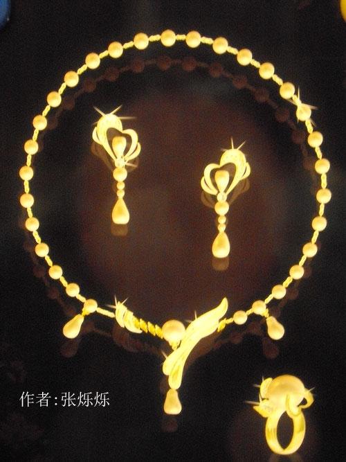 电脑作品《珍珠项链》设计作品 - 北京林木靖茹珠宝 .