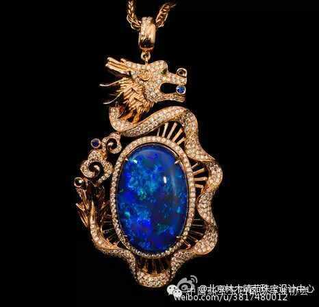学生杨桦欧泊品牌吊坠设计作品 - 北京林木靖茹珠宝 .